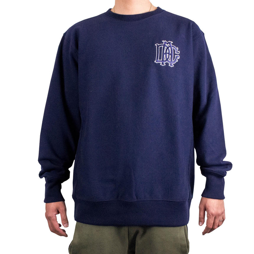 DCA LOGO SWEAT navy&white