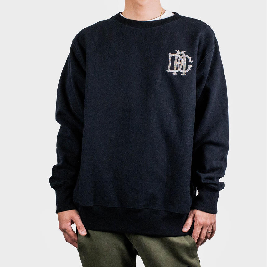 DCA LOGO SWEAT black&coogi柄