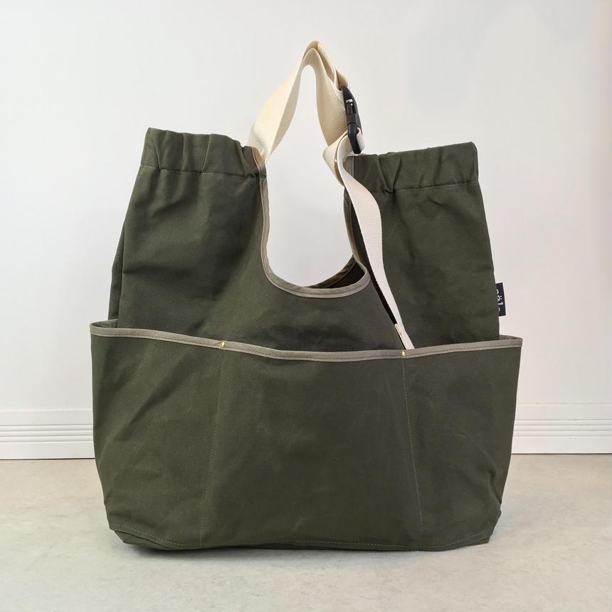 arch strap bag  dark khaki