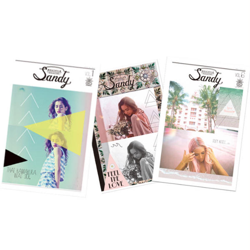 Sandy mag 新刊vol.6 & 前号vol.5&創刊号vol.1スペシャルパック