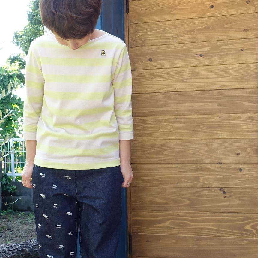 BOWBOWTシャツ ピンクxイエロー