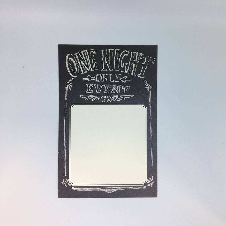インビテーションカード(封筒付き)ONE NIGHT ONLY EVENT