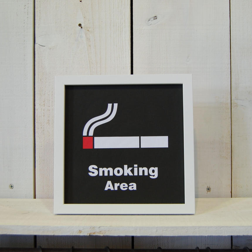 Smoking Area スモーキングエリア 喫煙所 アートフレーム サインフレーム