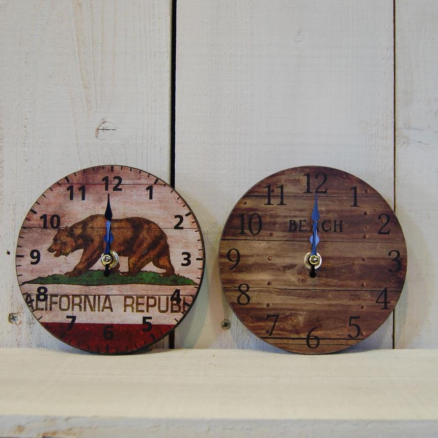 テーブルクロック ビーチブラウン 置き時計 S