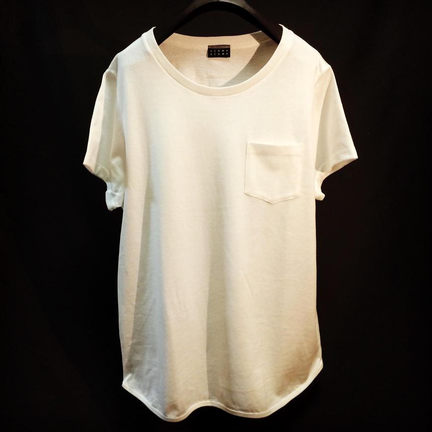 Round hem Pocket  T-shirt