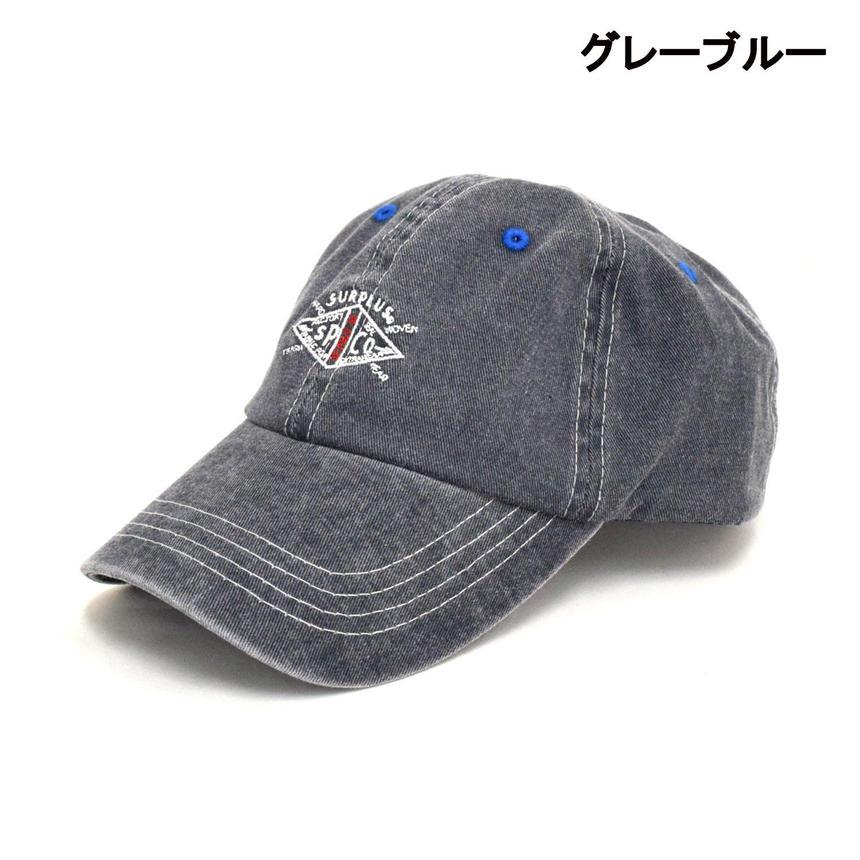サープラス 刺繍入り レトロ ベースボールキャップ(7652-002,18,グレーブルー)