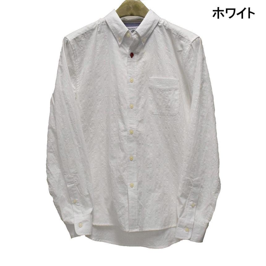 CREATION CUBE パナマチェック ボタンダウンシャツ(7342-702,20,ホワイト)