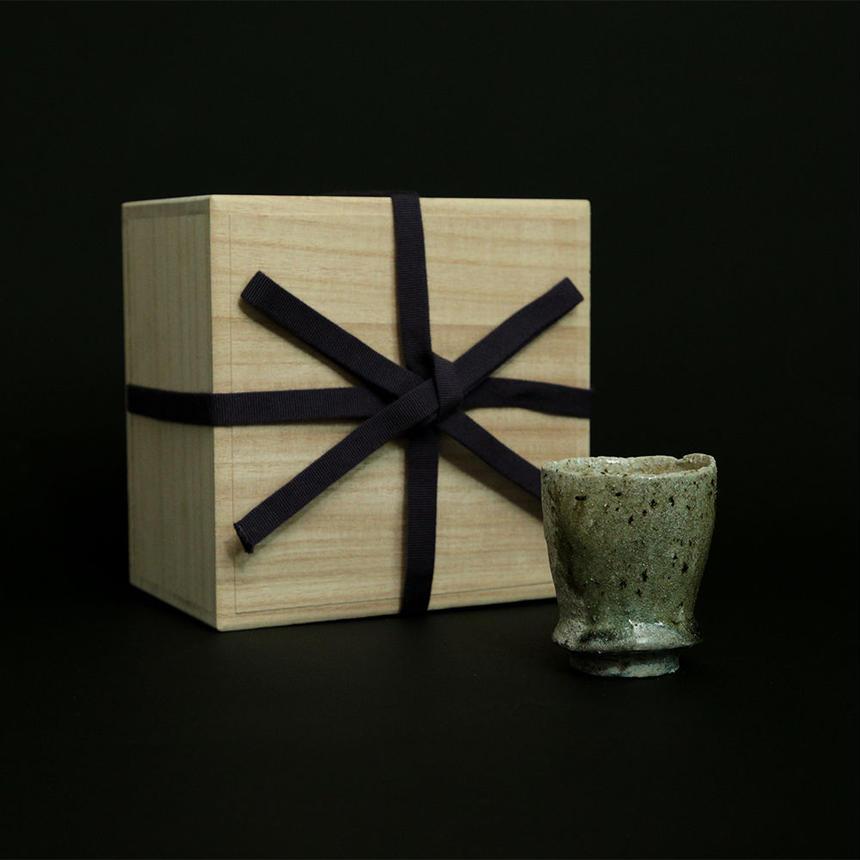 楽杜焼お猪口(らくとやき)成型:竹鼻良文-3時間焼成-