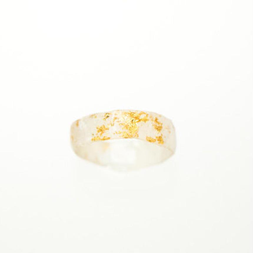 金箔と和紙の指輪