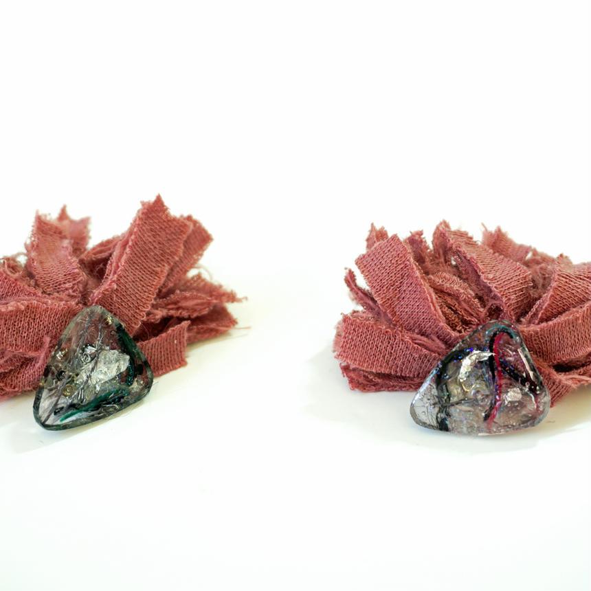 樹脂マテリアルフリンジピアス