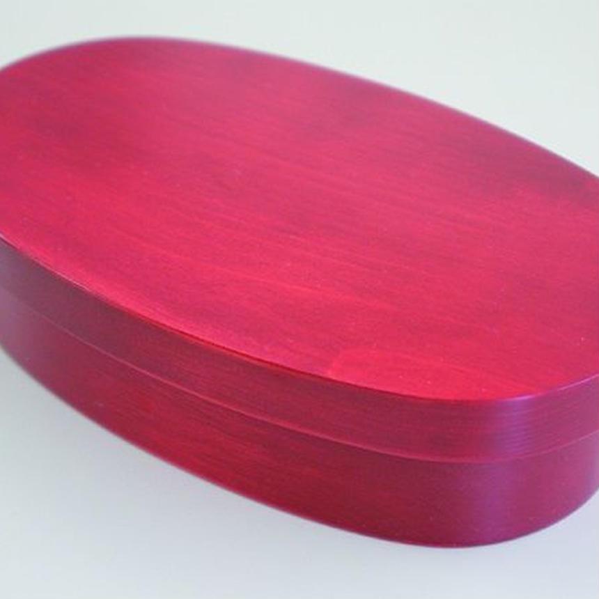 お弁当箱(小判型) 赤