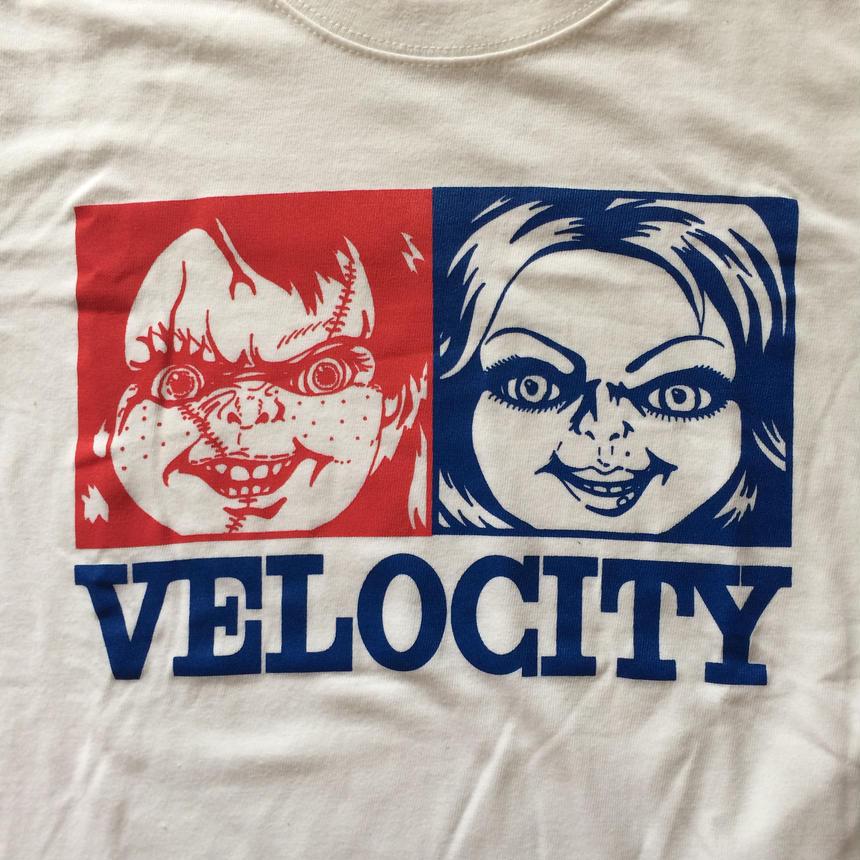 VELOCITY 『チャッキー』Tシャツ ホワイト