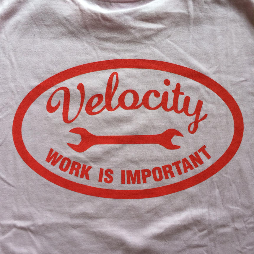 VELOCITY 『WORK IS IMPORTANT』 ライトピンク