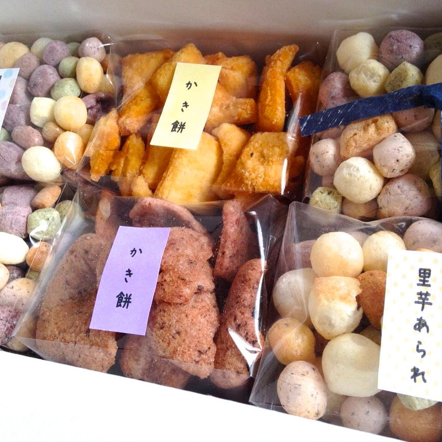 昔ながらの農家のおやつ(里芋あられとかき餅の詰め合わせ6袋入り)
