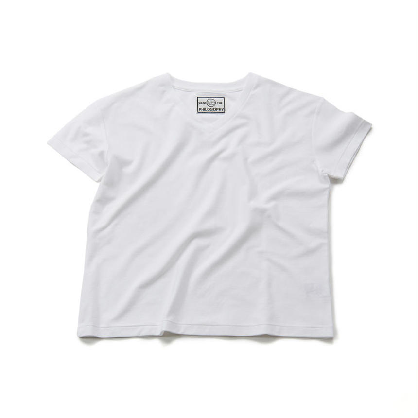 60/HIGHT GAGE TWILL VNECK TEE  S/SLEEVES (70-84014)