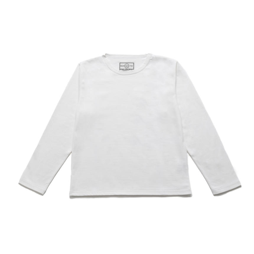 <70-89990>30/-x2 INDIA PLAIN CREW NECK TEE L/SLEEVES