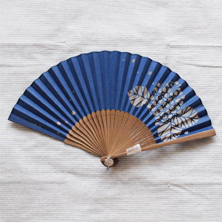 切絵扇子 紫陽花(紺)