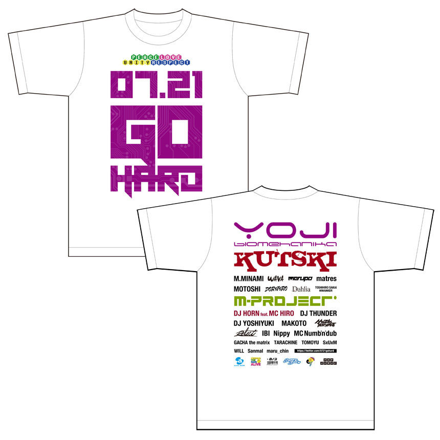 0721 GO HARD 記念Tシャツ 限定数入荷!Mサイズのみ