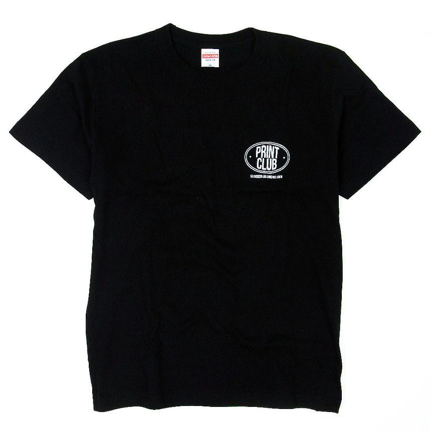 PRINT CLUB. Tee Black