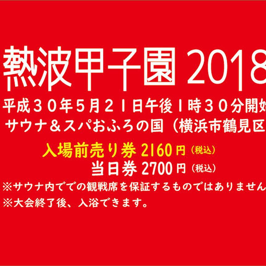 お得【一般前売】熱波甲子園2018入場券