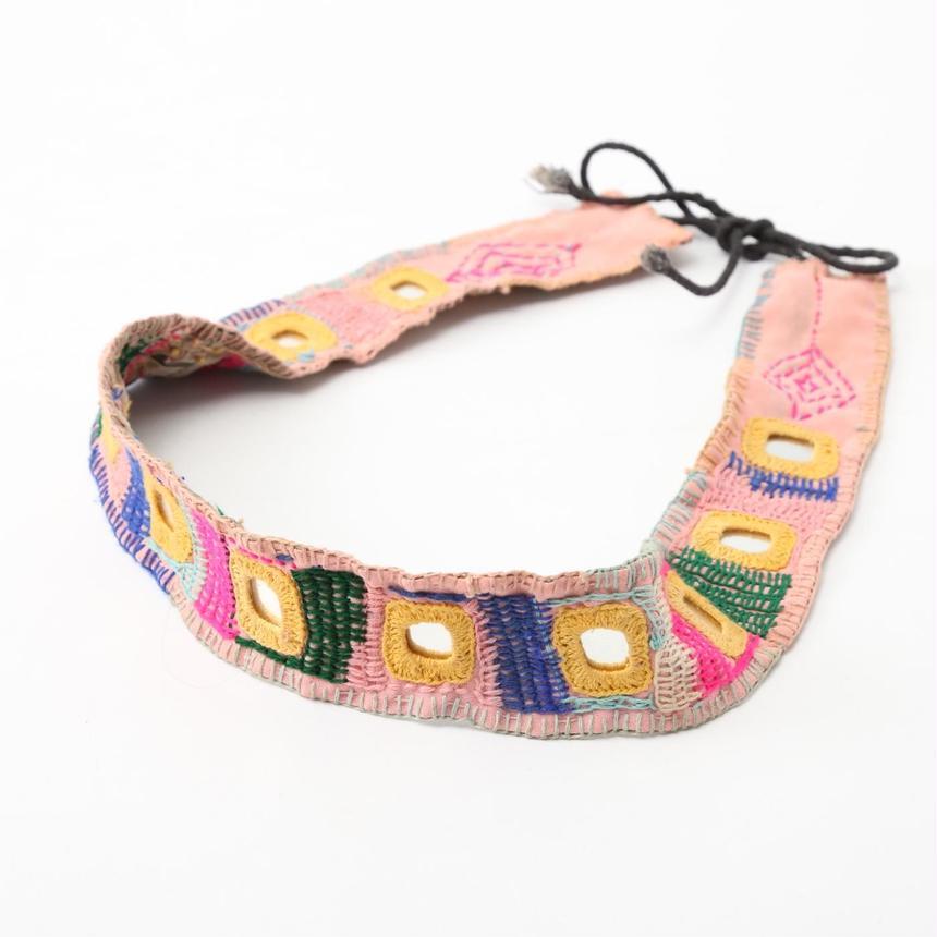 キラキラミラーの刺繍ベルト@インド