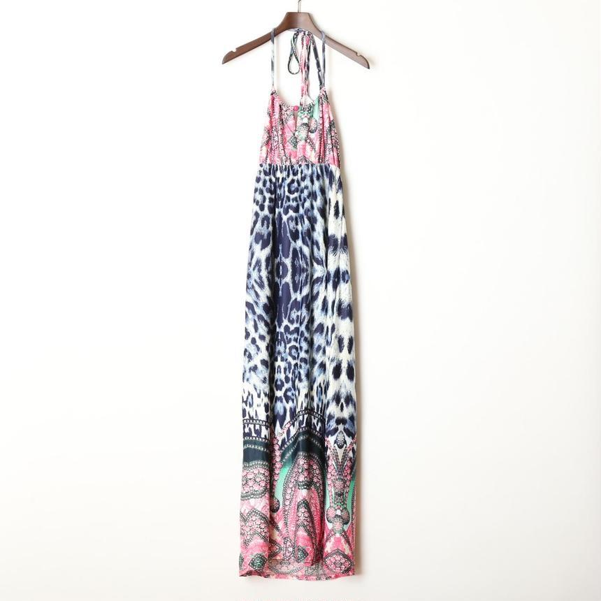 上品なファンキードレス♥スカーフ柄×ひょう