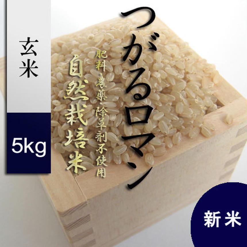 28年産 新米 無農薬・無肥料 自然栽培米 つがるロマン 玄米5kg