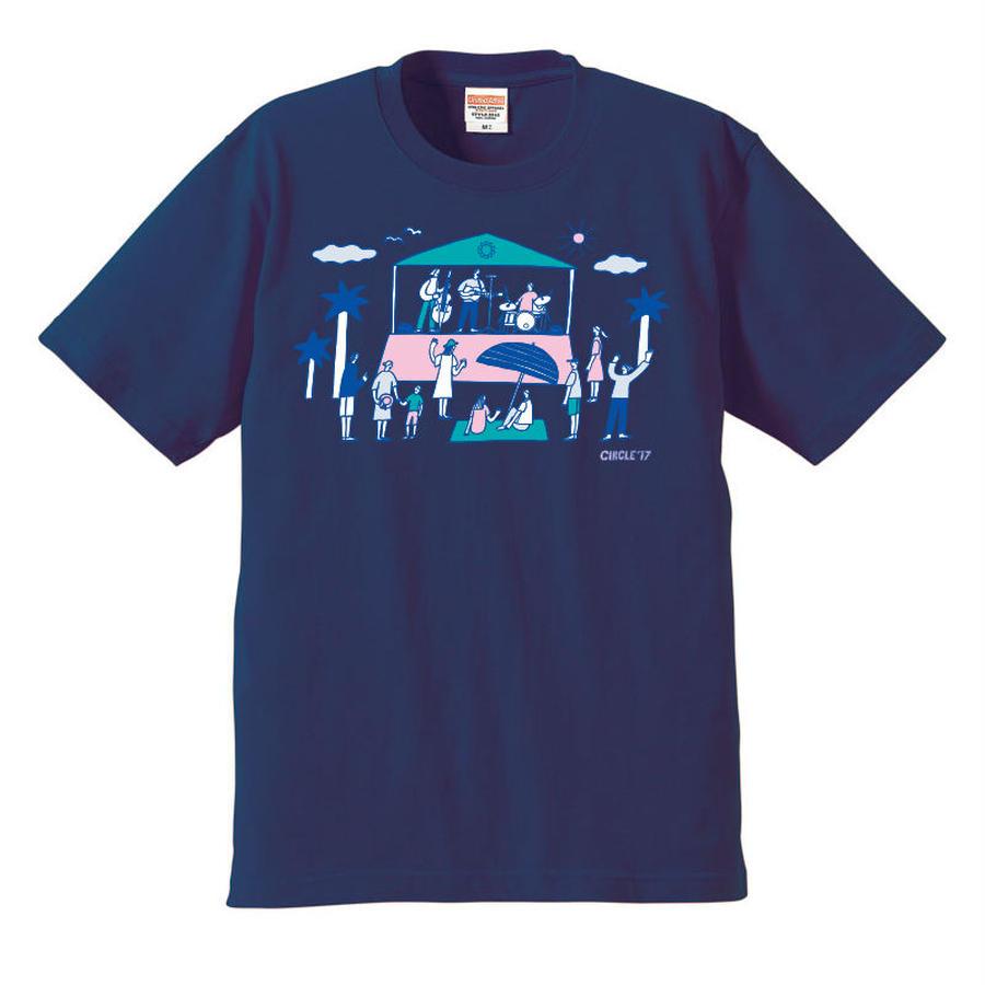 CIRCLE'17  T-Shirts (インディゴ)