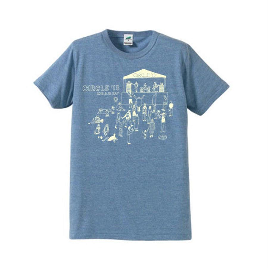 CIRCLE'13 オフィシャル T-Shirts (ヴィンテージヘザーブルー)