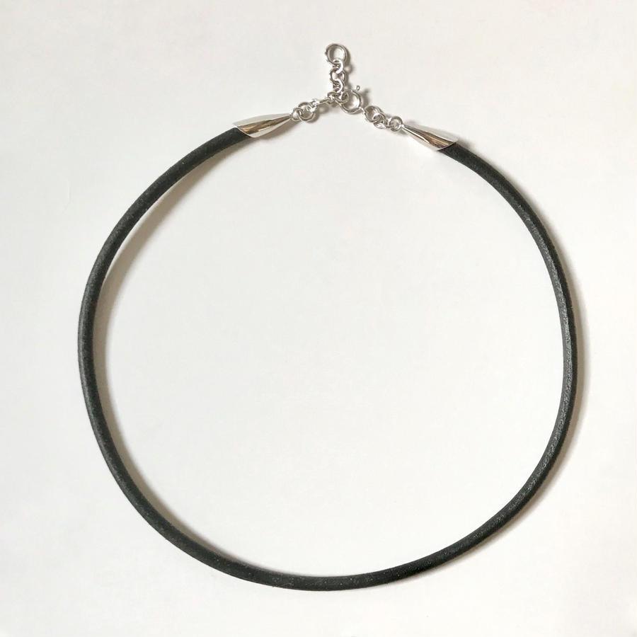 オリジナル・ 手作り 革紐 ネックレス(革径4.0mm)