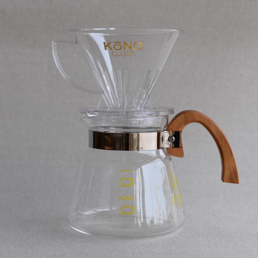 KONO Coffee Dripper Set [WOOD] - 4人用