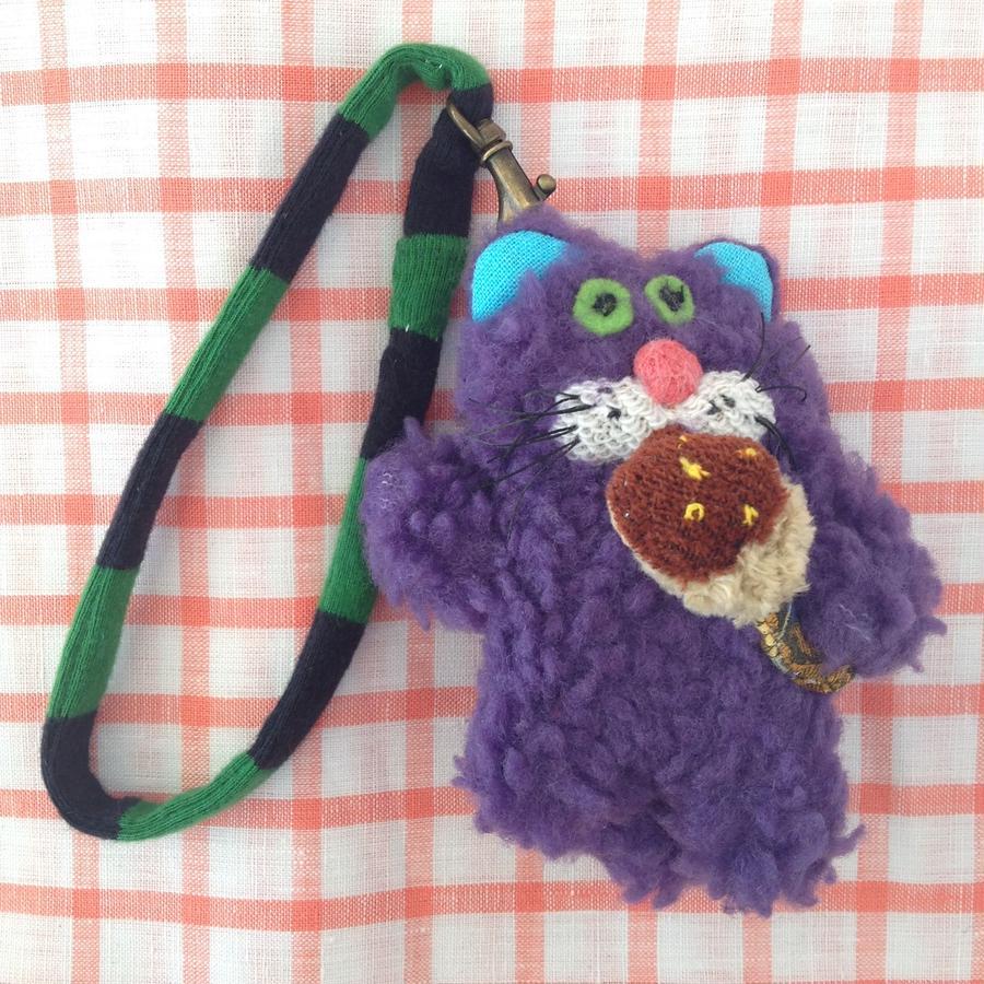くにはら ゆきこ  |  バッグチャーム /  紫動物たこ焼き