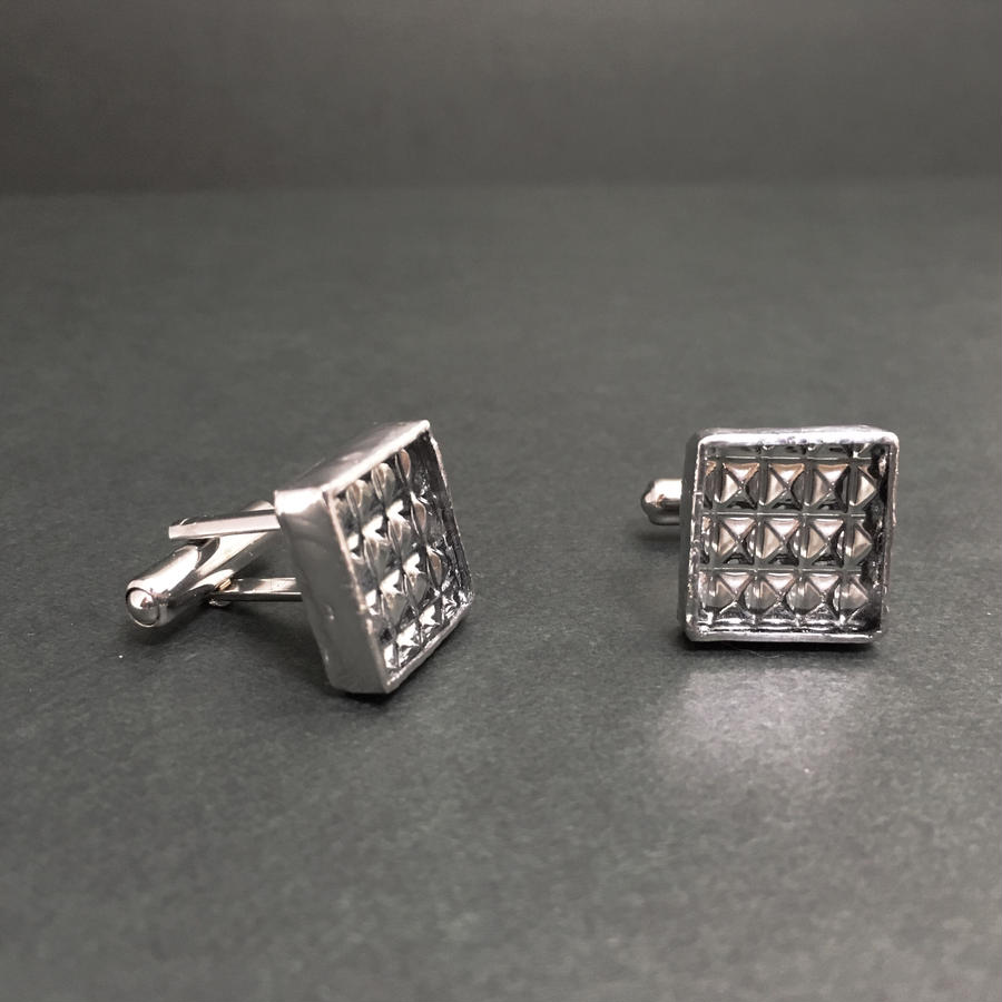 【doro】SQUARE CUFF LINKS | CHECK