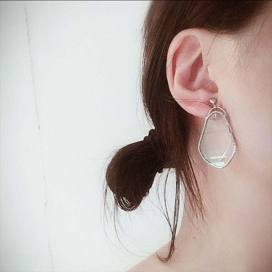 【doro】DAPHNIA PIERCE & EARRINGS | CLEAR 金具選択可