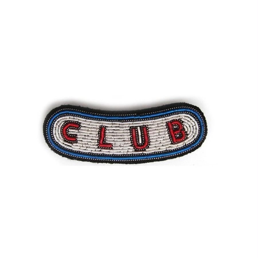 "MEDIUM HAND-EMBROIDERED ""CLUB"" PIN ブローチ"