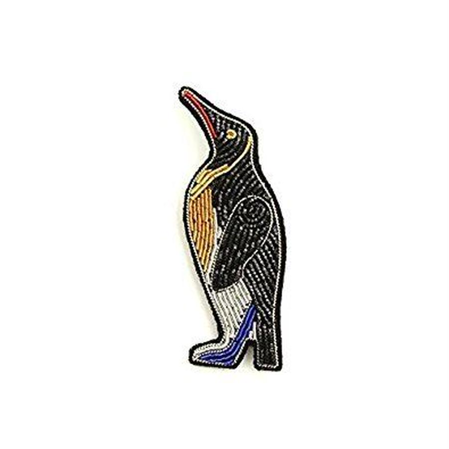 "(マコンエレスコア)MACON & LESQUOY HAND-EMBROIDERED ""PENGUIN"" PINブローチ"