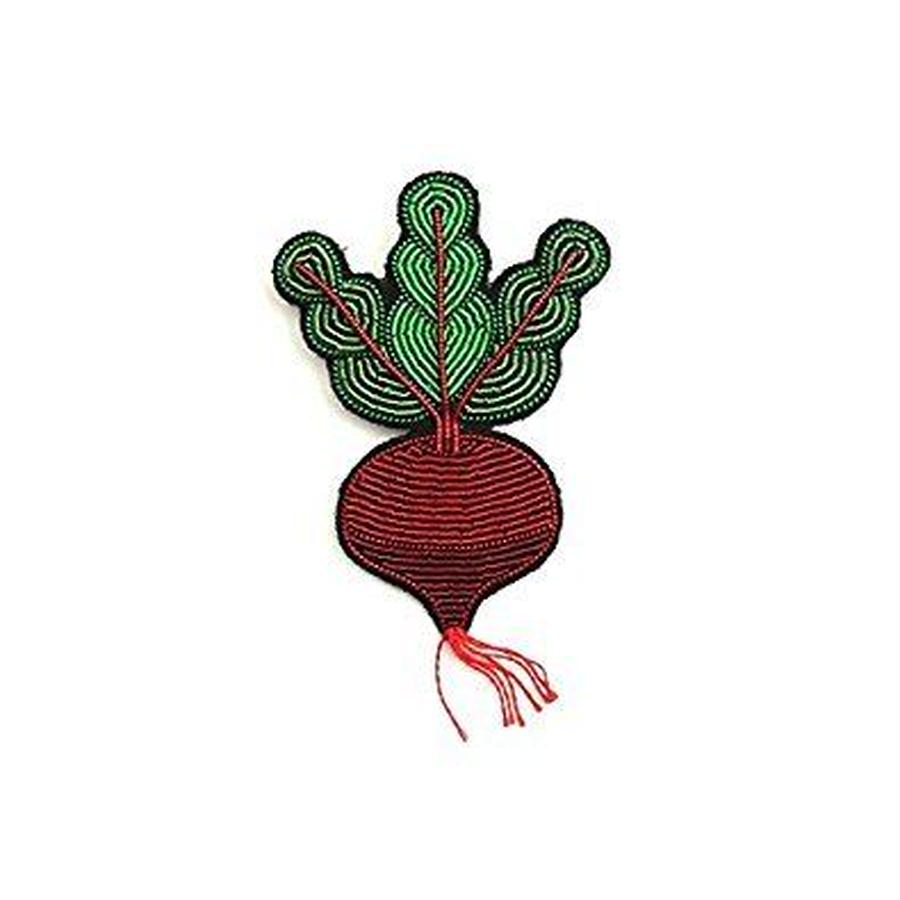 "(マコンエレスコア)MACON & LESQUOY HAND-EMBROIDERED ""BEETROOT"" PIN PINブローチ"