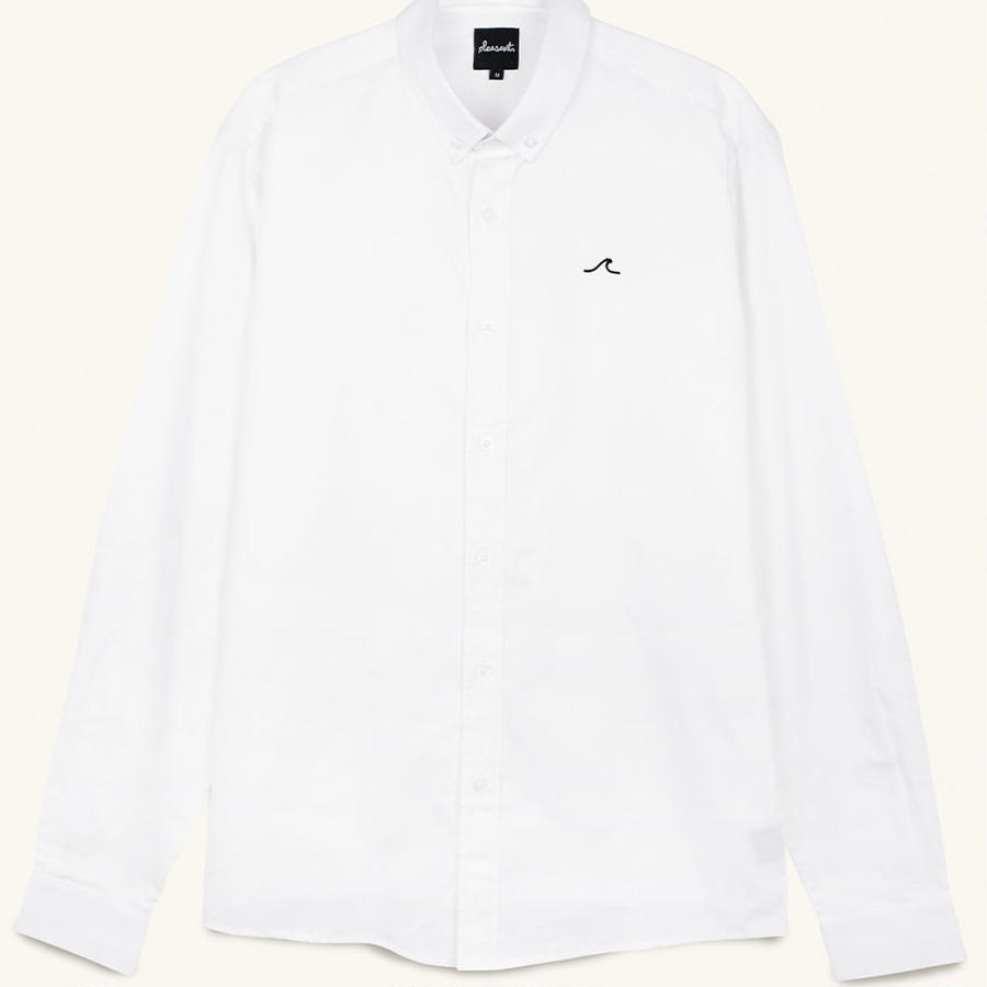 [PLEASANT] WAVE WHITE SHIRT