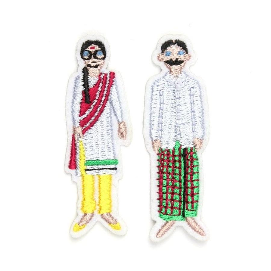 """INDIAN COUPLE"" PATCHES CARD ワッペン"