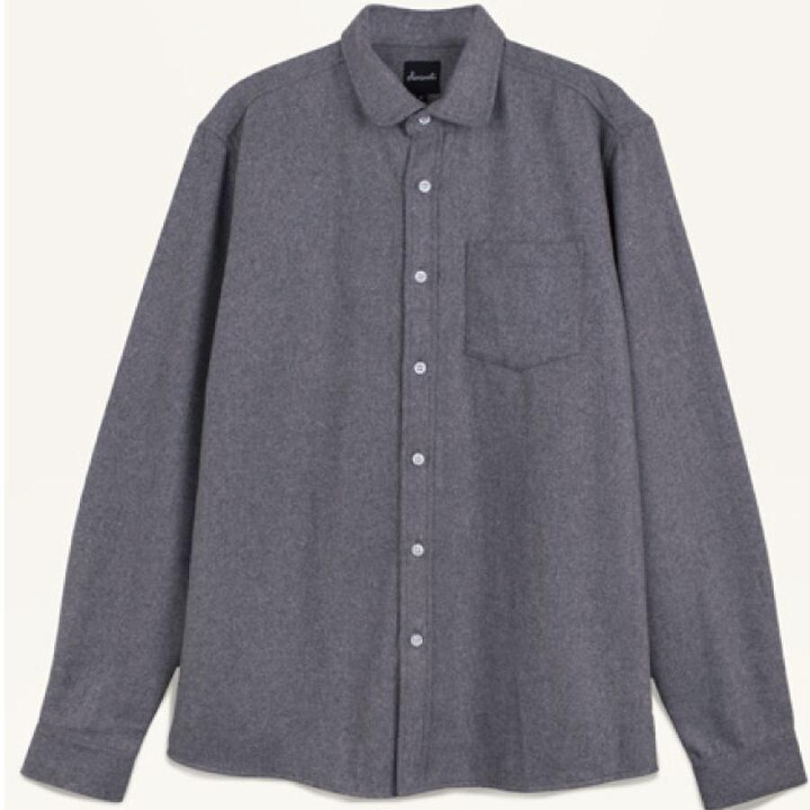 LIGHT GREY WOOL SHIRTS