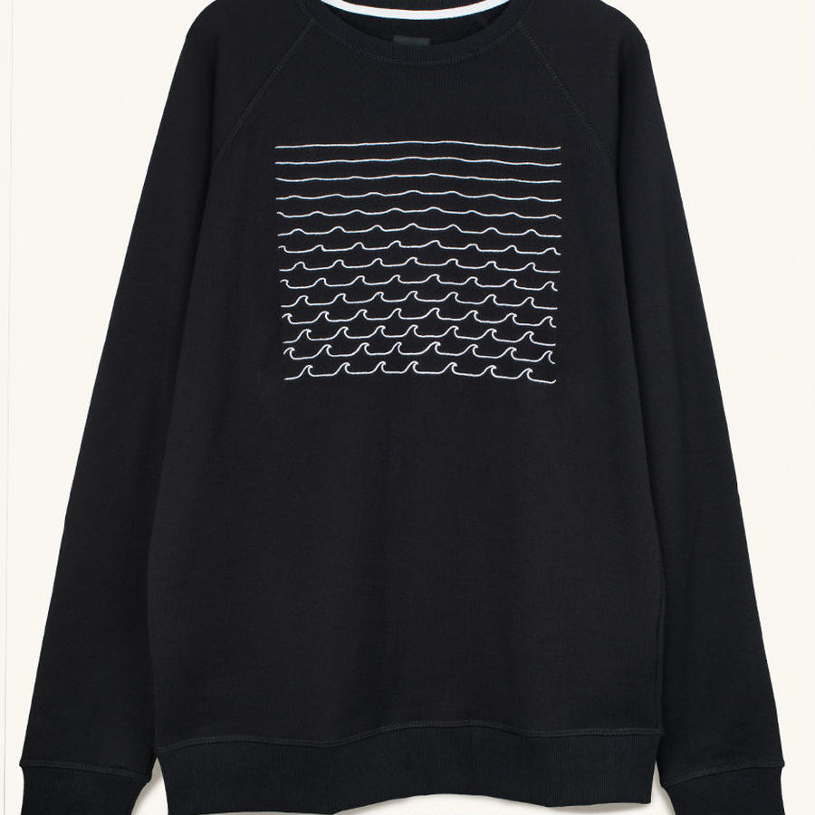 [PLEASANT]  WAVES NAVY SWEAT