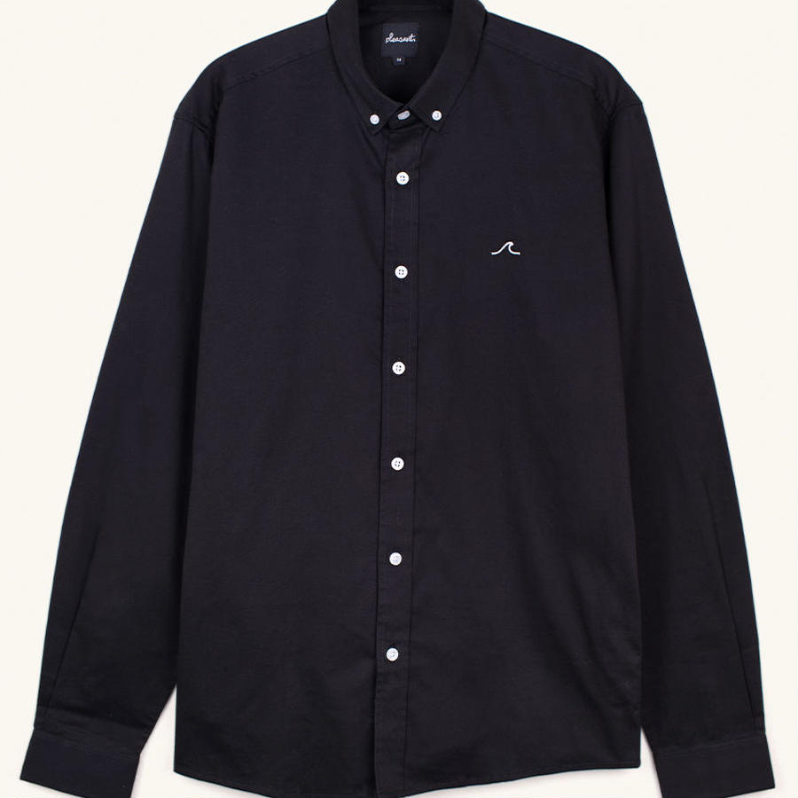 [PLEASANT] WAVE BLACK SHIRT