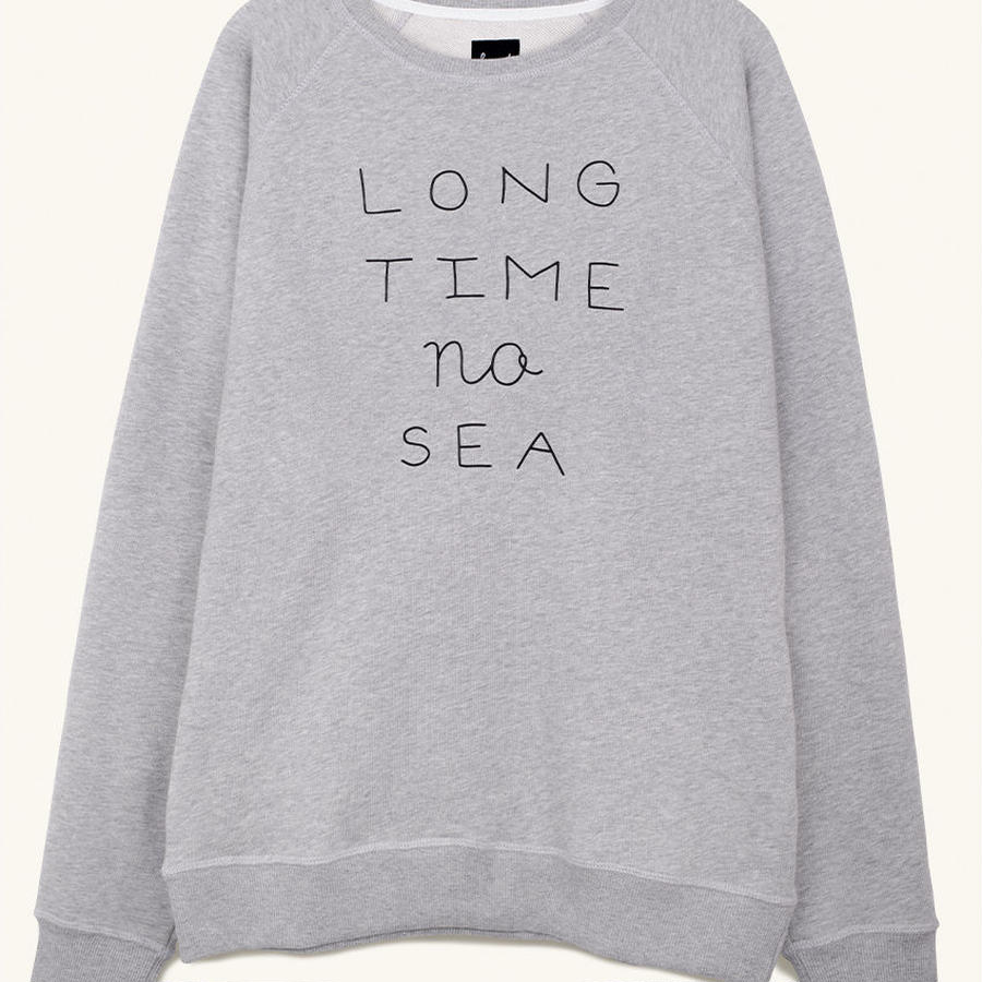 [PLEASANT] LOMG TIME NO SEA GREY SWEAT