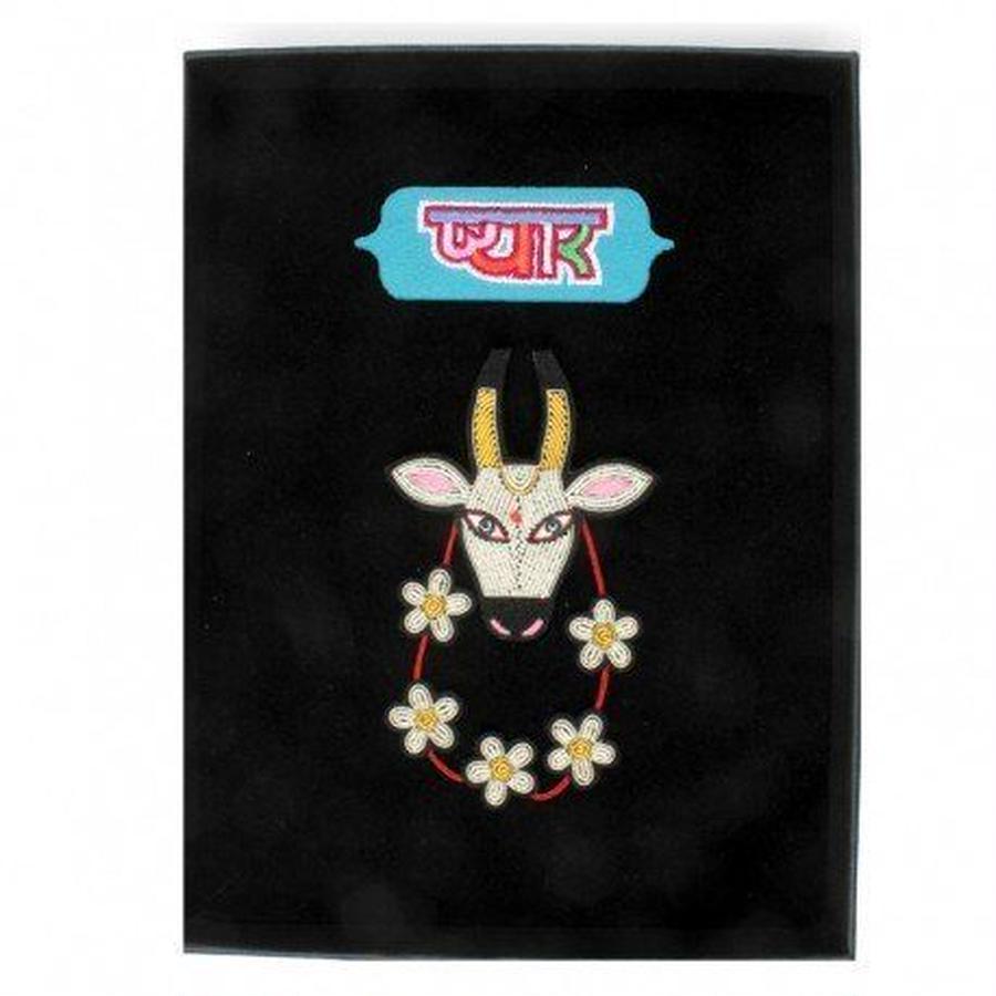 """(マコンエレスコア)MACON & LESQUOY """"HOLY COW"""" THEATRE BOX ブローチ&パッチ"""
