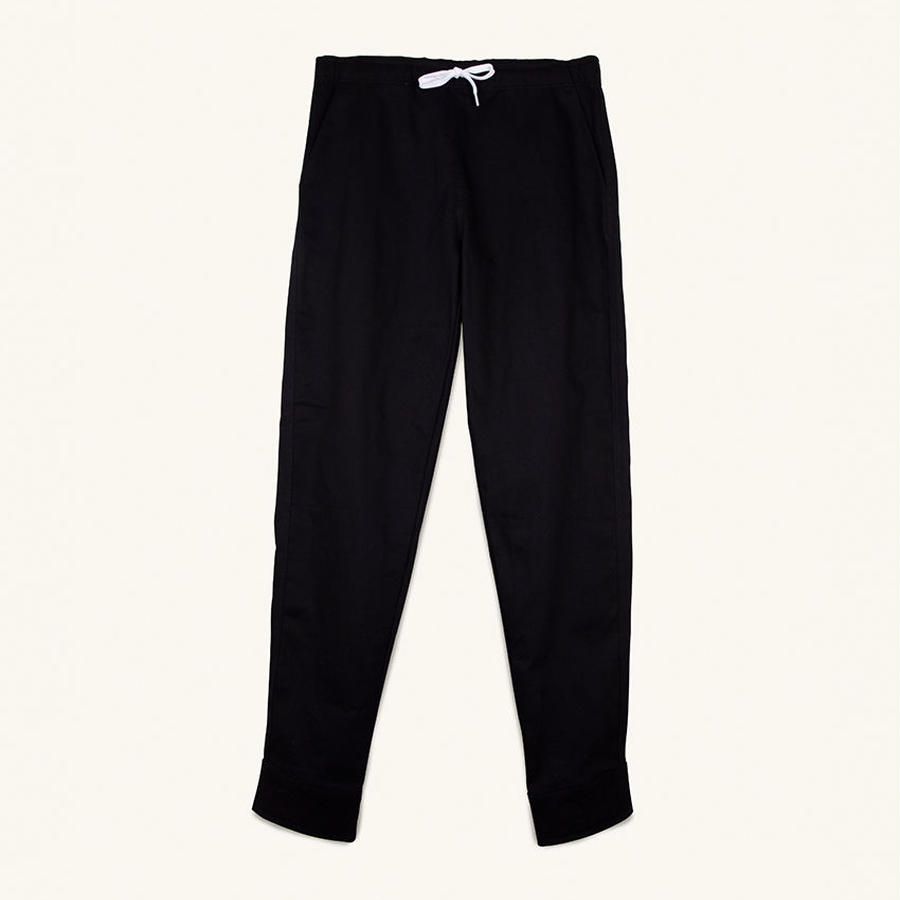 [PLEASANT] BLACK MANCHET PANTS