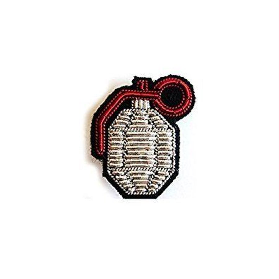 "(マコンエレスコア)MACON & LESQUOY HAND-EMBROIDERED ""GRENADE"" PINブローチ"