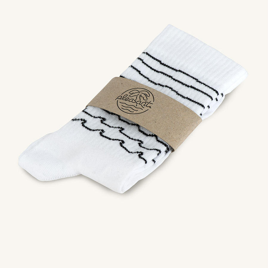 [PLEASANT] WAVES WHITE SOCKS