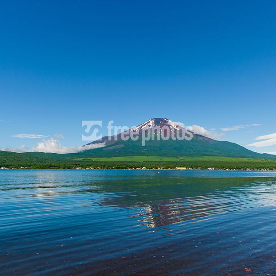 初夏の山中湖と富士山[山中湖村]