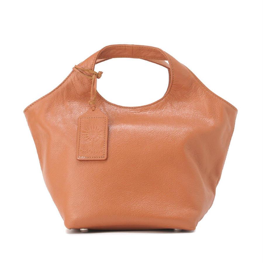 牛革製バッグ/ランチバッグ キャメル