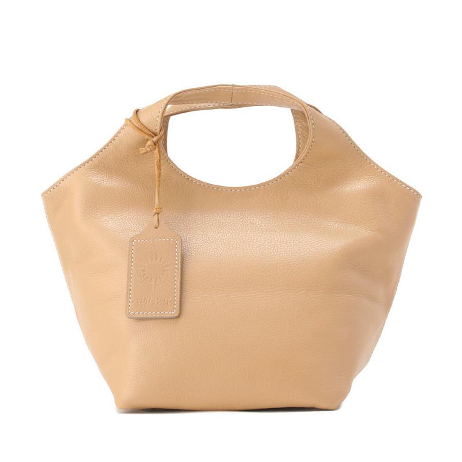 牛革製バッグ/ランチバッグ ベージュ